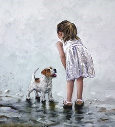 Puppy Love by Keith Proctor - Limited Edition on Canvas sized 18x20 inches. Available from Whitewall Galleries